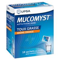 MUCOMYST 200 mg Poudre pour solution buvable en sachet B/18 à VITRE