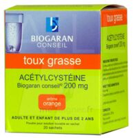 Acetylcysteine Biogaran Conseil 200 Mg Pdr Sol Buv En Sachet B/20 à VITRE