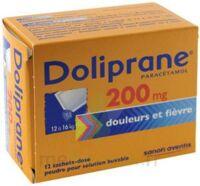 Doliprane 200 Mg Poudre Pour Solution Buvable En Sachet-dose B/12 à VITRE