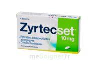 ZYRTECSET 10 mg, comprimé pelliculé sécable à VITRE
