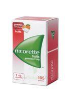 Nicorette 2 Mg Gomme à Mâcher Médicamenteuse Sans Sucre Fruits Plq/105 à VITRE