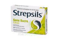 Strepsils Citron Sans Sucre, Pastille édulcorée à L'isomalt, Au Maltitol Et à La Saccharine Sodique à VITRE