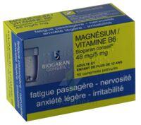 MAGNESIUM/VITAMINE B6 BIOGARAN CONSEIL 48 mg/5 mg, comprimé pelliculé à VITRE