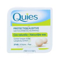QUIES PROTECTION AUDITIVE CIRE NATURELLE 8 PAIRES à VITRE