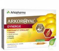 Arkoroyal Dynergie Ginseng Gelée Royale Propolis Solution Buvable 20 Ampoules/10ml à VITRE
