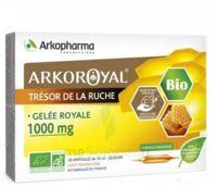 Arkoroyal Gelée Royale Bio 1000 Mg Solution Buvable 20 Ampoules/10ml à VITRE