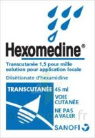 HEXOMEDINE TRANSCUTANEE 1,5 POUR MILLE, solution pour application locale à VITRE