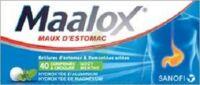MAALOX HYDROXYDE D'ALUMINIUM/HYDROXYDE DE MAGNESIUM 400 mg/400 mg Cpr à croquer maux d'estomac Plq/40 à VITRE