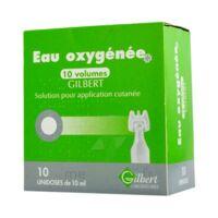 EAU OXYGENEE 10 VOLUMES GILBERT, solution pour application cutanée en récipient unidose à VITRE