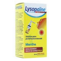 LysopaÏne Ambroxol 17,86 Mg/ml Solution Pour Pulvérisation Buccale Maux De Gorge Sans Sucre Menthe Fl/20ml à VITRE