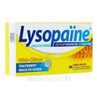 LYSOPAÏNE Comprimés à sucer maux de gorge miel citron sans sucre 2T/18 à VITRE
