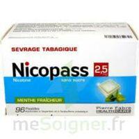 Nicopass 2,5 Mg Pastille Menthe Fraîcheur Sans Sucre Plq/96