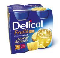 DELICAL BOISSON FRUITEE Nutriment ananas 4Bouteilles/200ml à VITRE