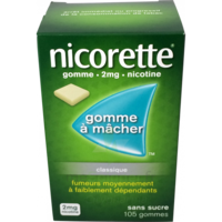 Nicorette 2 Mg Gom à Mâcher Médic Sans Sucre Menthe Fraîche Plq/105gom à VITRE