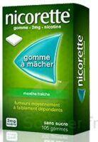 NICORETTE 2 mg Gom à mâcher médic sans sucre menthe fraîche Plq/30gom à VITRE