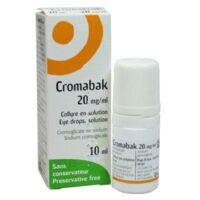CROMABAK 20 mg/ml, collyre en solution à VITRE