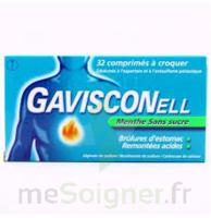 Gavisconell Coprimés à Croquer Sans Sucre Menthe édulcoré à L'aspartam Et à L'acésulfame Potas Plq/24 à VITRE