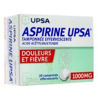 Aspirine Upsa Tamponnee Effervescente 1000 Mg, Comprimé Effervescent à VITRE