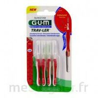 Gum Trav - Ler, 0,8 Mm, Manche Rouge , Blister 4 à VITRE