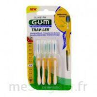 Gum Trav - Ler, 1,3 Mm, Manche Jaune , Blister 4 à VITRE