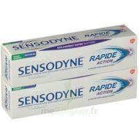 Sensodyne Rapide Pâte Dentifrice Dents Sensibles 2*75ml à VITRE