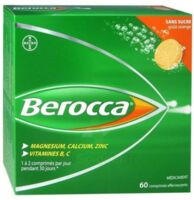 Berocca Comprimés effervescents sans sucre T/60 à VITRE
