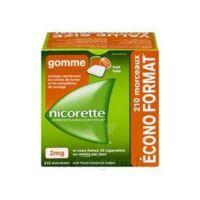 Nicorette 2 Mg Gomme à Mâcher Médicamenteuse Sans Sucre Fruits Plq/210 à VITRE