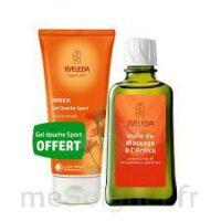 Weleda huile de massage arnica 200ml  + Gel douche OFFERT à VITRE