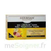 Herbesan Système Immunitaire 30 Ampoules à VITRE