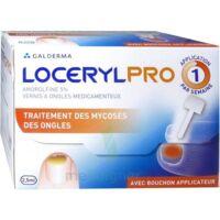 LOCERYLPRO 5 % V ongles médicamenteux Fl/2,5ml+spatule+30 limes+lingettes à VITRE
