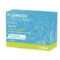 FLUIMUCIL EXPECTORANT ACETYLCYSTEINE 600 mg Glé s buv adultes 10Sach à VITRE