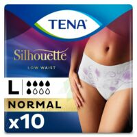 Tena Lady Silhouette Slip Absorbant Blanc Normal Large Paquet/10 à VITRE