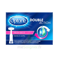Optone Monodose Double Action Solution Oculaire Yeux Secs B/10 à VITRE
